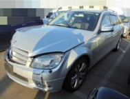 Damaged Mercedes Benz C200 Wagon DBA-204241 (2008)