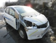 Damaged Honda Fit HatchBack DBA-GE7 (2011)