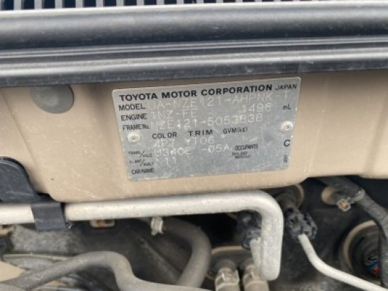 Used Toyota Corolla RUNX Sedan NZE121 (2003)